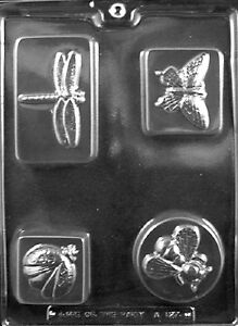 A127 Garden Bug Bars Chocolate Candy Soap Mold with Instructions