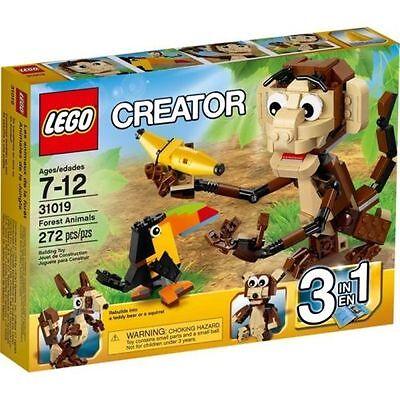 NEW Lego CREATOR 31019 Forest Animals 3 in 1 Monkey TEDDY BEAR Toucan.
