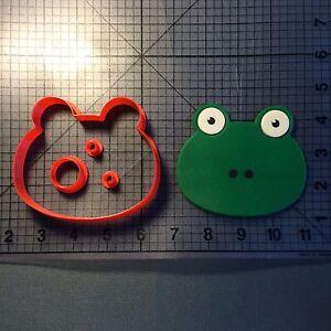 Frog Face 3D Cookie Cutter  Fondant Cutter