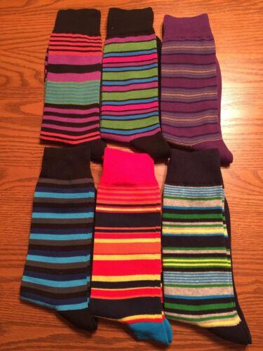 8-12 Hot Sox HOTSOX homme ras du cou Robe Chaussettes Fun Chaud Multicolore À Rayures L