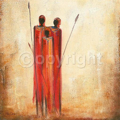 Valerie Delmas  Native Family terminé-image 70x70 LA FRESQUE AFRIQUE personnages