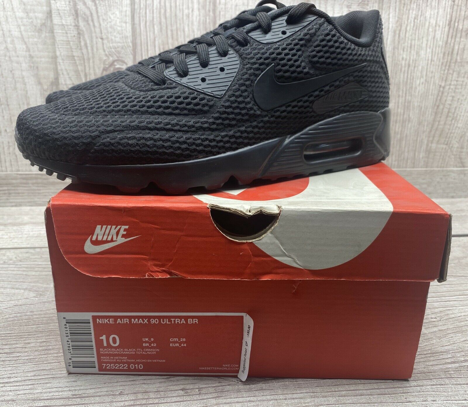 Nike Air Max 90 Ultra BR 725222-010 Size 10