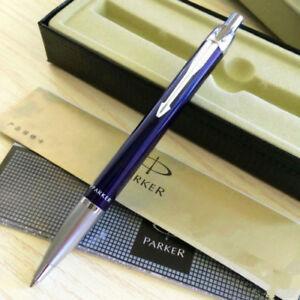 Perfect-Parker-IM-Ballpoint-Pen-Beautiful-Blue-Silver-Clip-0-5mm-Fine-Nib-Pen
