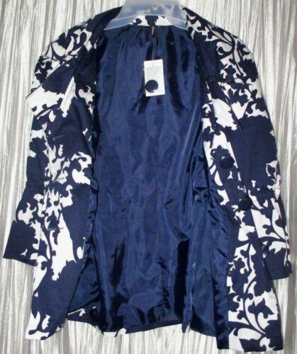 Giacca bianca blu Bella foderata ambizione ~ Xl giacca Nuova spandex cotone qaR4t0n