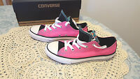 Converse Girl's Double Tongue Ox Shoes Sz. 5 Youth Neo Pink In Box