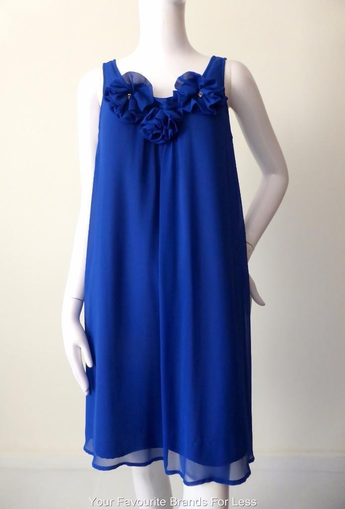 NICOLA FINETTI - NEW -  Size 8 or US 4 Dress  bluee Sleeveless Shift