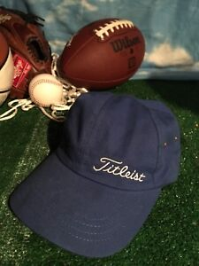 Vintage Titleist Hat Golf Cap Texace Made In USA Cancer Ribbon H18 ... ea2f2395ae5
