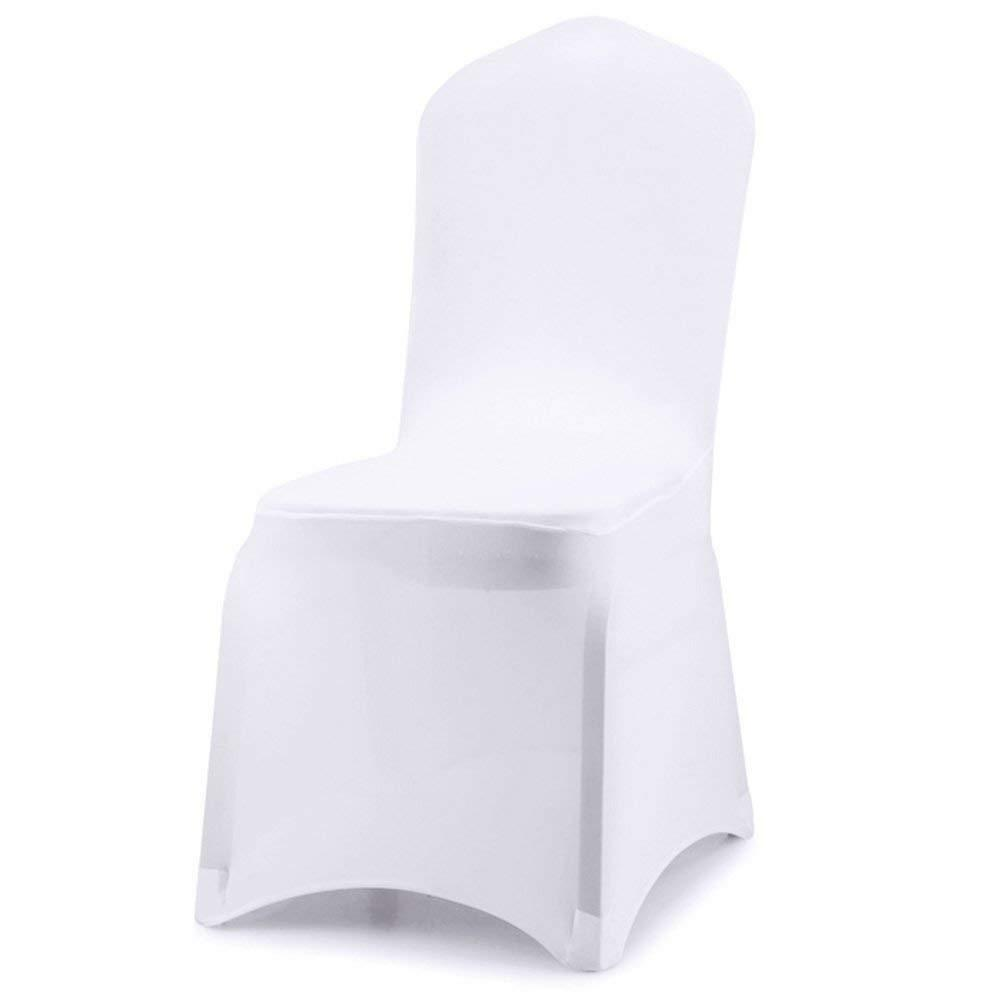 Flat front Weiß polyester SPANDEX stretchable chair covers -1 5 10 20 50 100