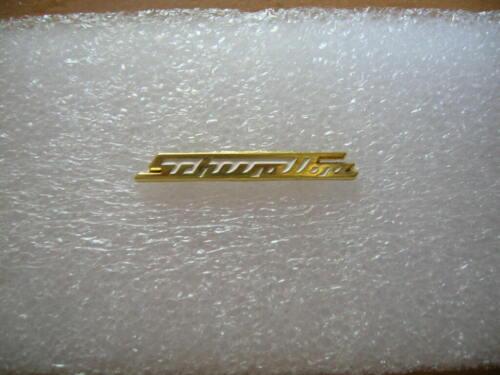 Pin Anstecker SIMSON SCHWALBE goldfarben Schriftzug  Moped Art 1319 Motorrad