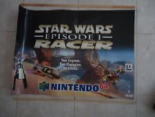 Star Wars Episode 1 I Racer Nintendo 64 N64 Store Display Promotional Banner