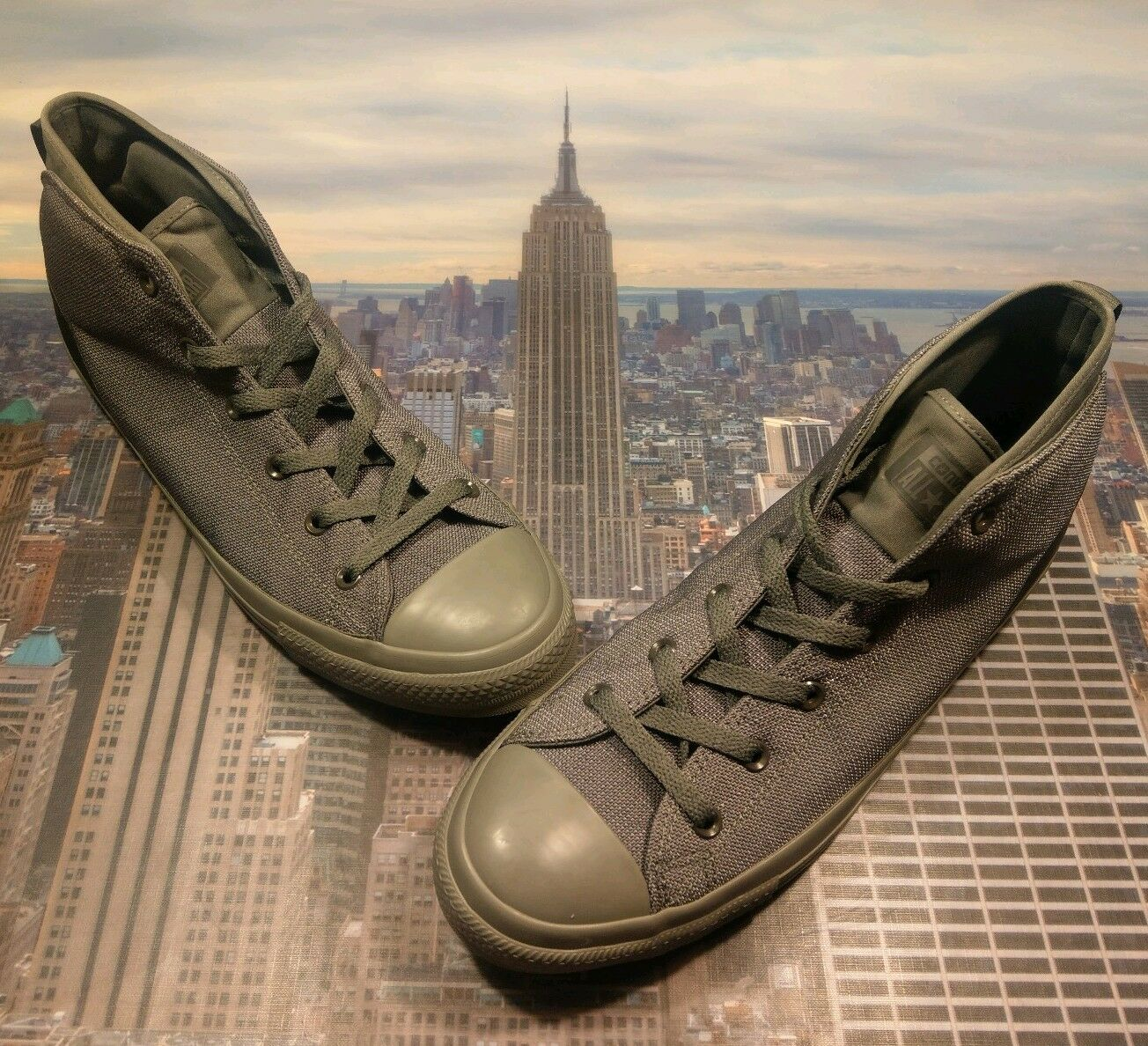 Converse Chuck Taylor All Star Syde Street Mid Top Charcoal Charcoal Charcoal Grey Size 13 155491c 39a065