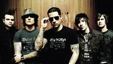 "009 Avenged Sevenfold - A7X American Rock Band Musci 25""x14"" Poster"