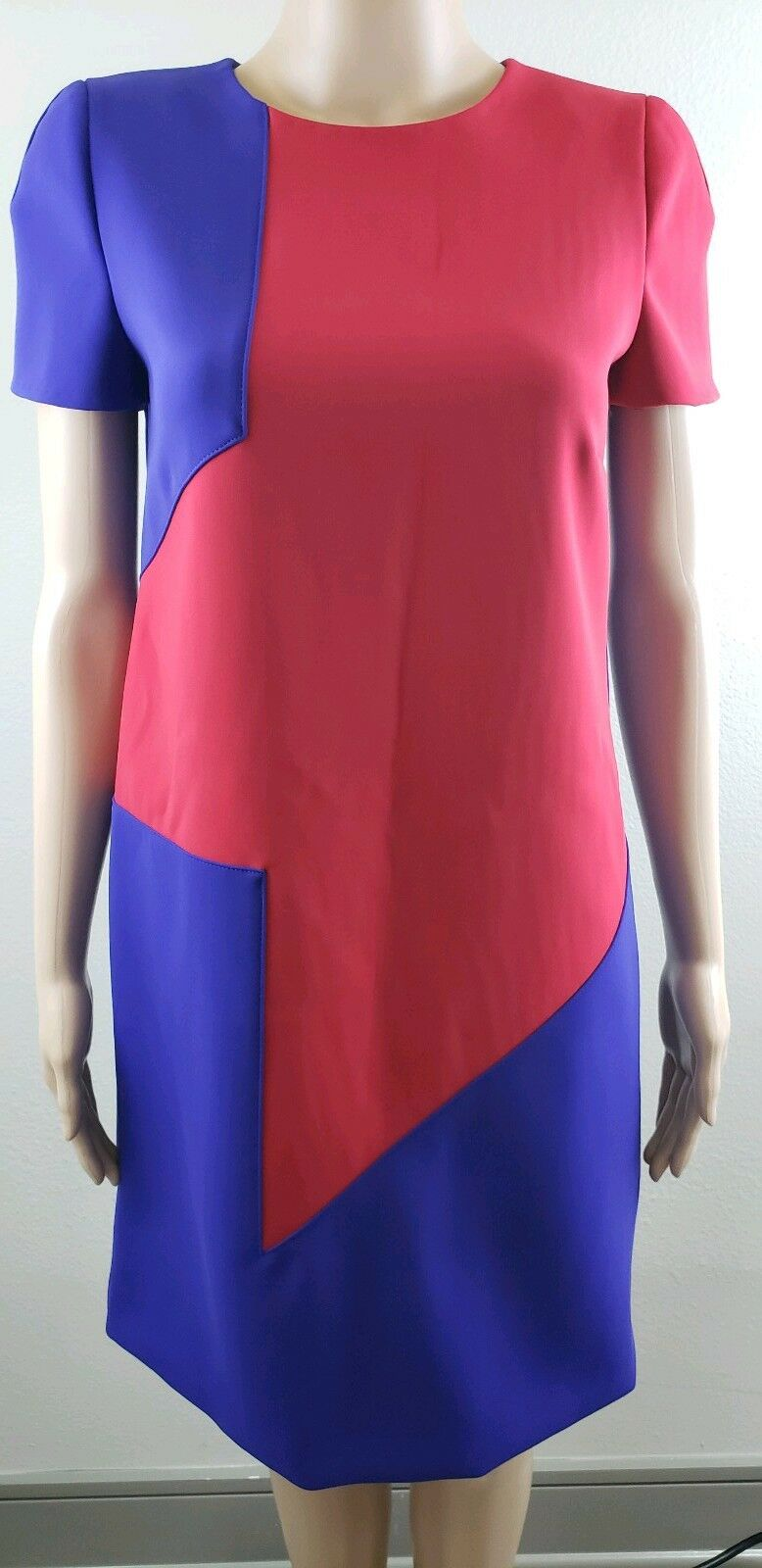 NWT versace  Red  purple short sleeve dress size 42