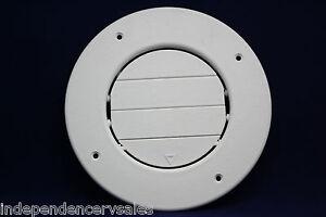 Rv Round Ac Ceiling Vent Fully Adjustable White Ebay