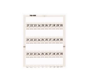 21 30 weiß 1=100 WMB-Multibeschriftung 10x WAGO 793-5504 waagr