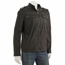 New Rock & Republic Men's Military-Style Canvas Jacket Charcoal Size L MSRP $160