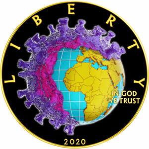 American Silver Eagle 19COVID CORON VIRUS BIRTH of VENUS $1 Liberty 2020 Coin G