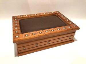 Vintage-Mid-Century-Modern-MELE-Wooden-Jewelry-Box