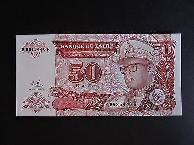 """Betrouwbaar Zaire Rdc 50 Nz De 1993 état Neuf """"unc"""""""