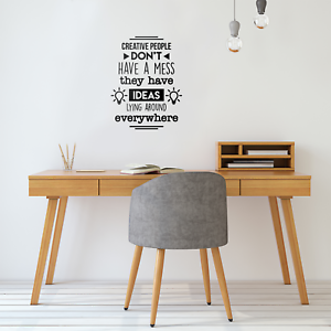 Vinyl Wall Art Decal Creative People Dont .. Motivational Quote 22* x 17*