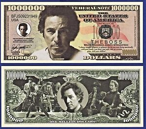 Image result for images of bruce springsteen on money