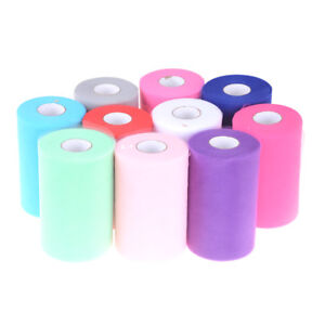 15cm-100Y-Tulle-Roll-Fabric-Spool-Craft-Wedding-Bridal-Party-Festival-Supplies