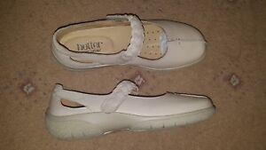 Bnwob Shoes 4 Mary Jane Hotter Beige Leather Soft Size Flats Shake vrv0xH4
