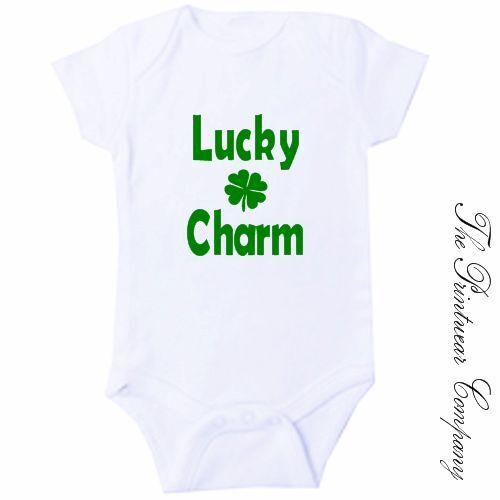 Lucky Charm Irish Baby Grow Bodysuit Babygrow Vest Funny St Patrick/'s Day Gift