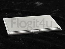 Denison Boston Stainless Steel Slim Business Card Holder Case Gift Boxed NEW