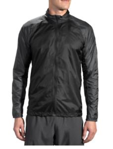 Brooks-Mens-LSD-Jacket-Packable-Water-Wind-Resistant-Black-Asphalt-Sizes-98