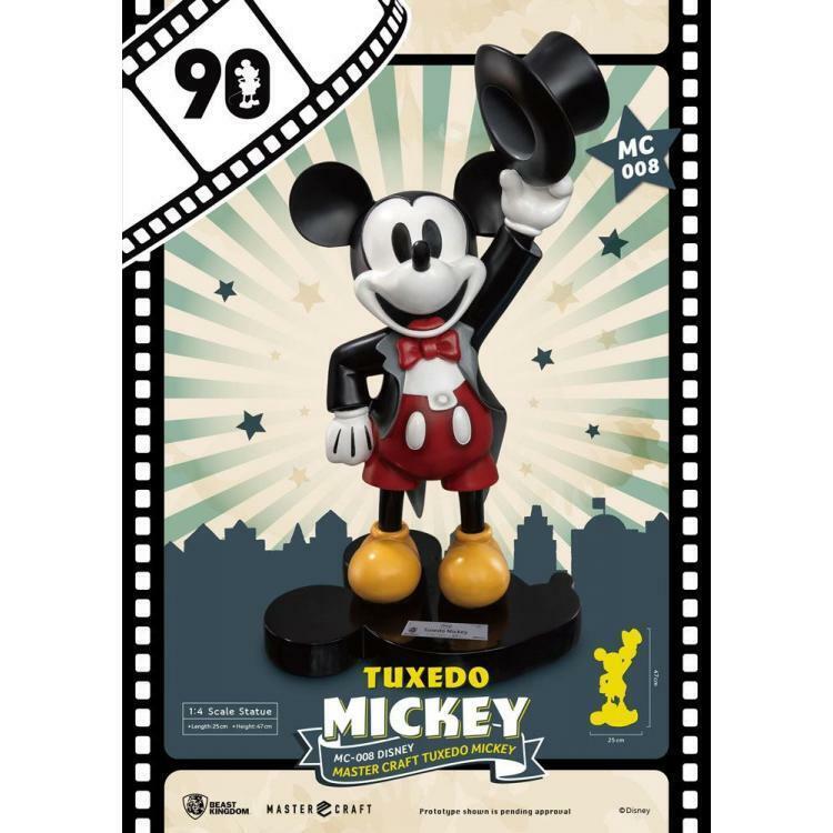 MICKEY MOUSE MASTER CRAFT 1 4 TUXEDO MICKEY 90TH ANNIVERSARY 47 CM BEAST KINGDOM