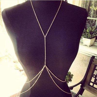 Chain Harness Bikini Necklace Sexy Fashion Belly Waist Cross Body Body Jewelry