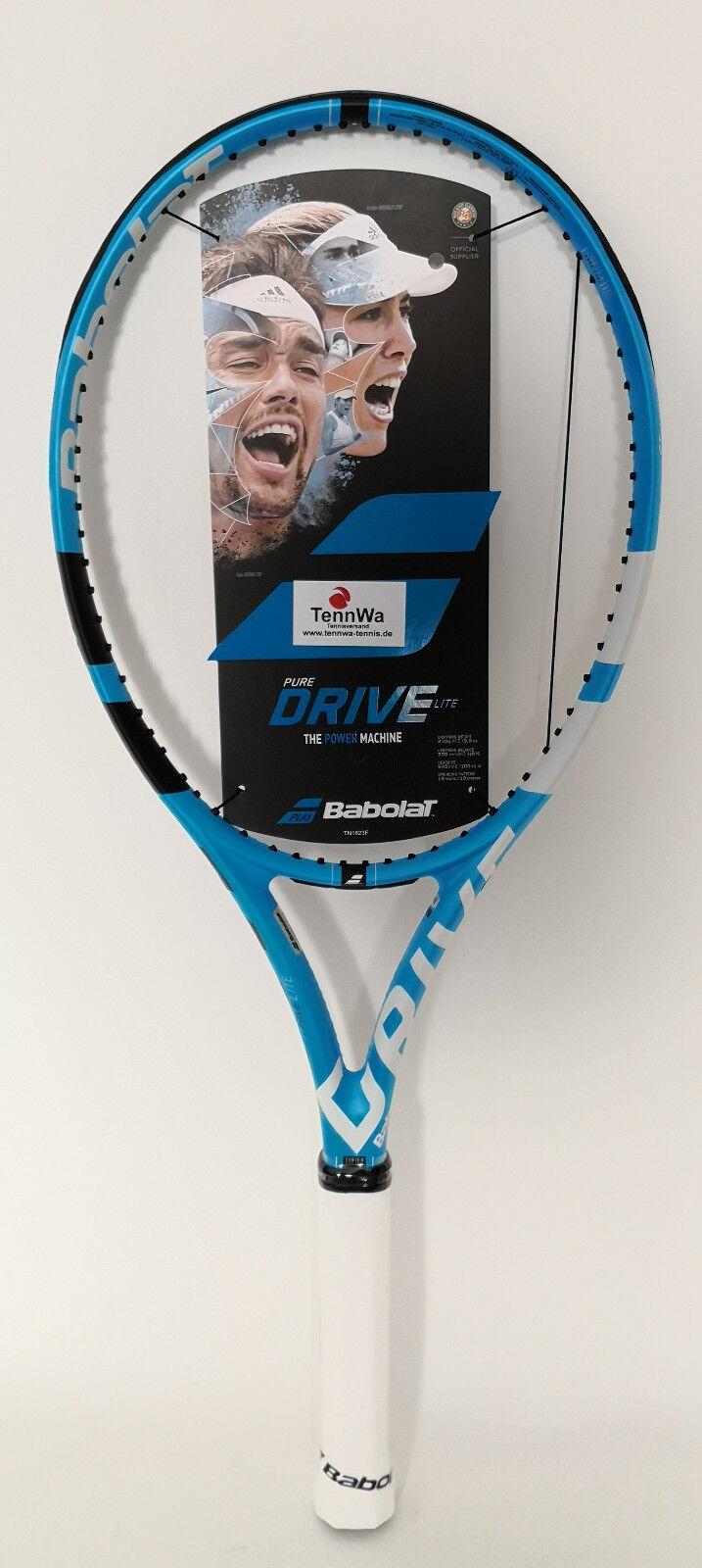 GRANDIOS  Tennisschläger Babolat Pure Drive LITE, inkl. Besaitung vom Profi