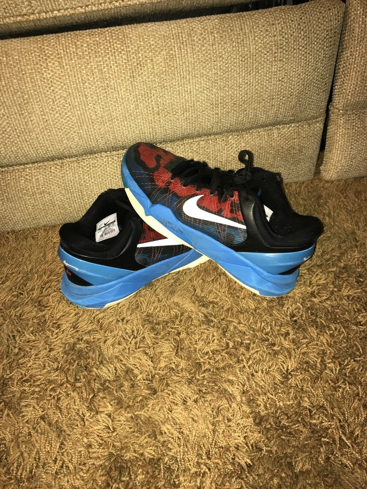 kobe 7 poison dart frog red white and blue size 7
