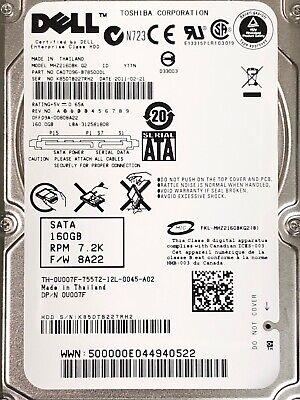 """**LOT OF 2** DELL 2X1CJ 160GB 7.2K 2.5/"""" SATA LAPTOP HDD HARD DRIVE ST9160412AS"""
