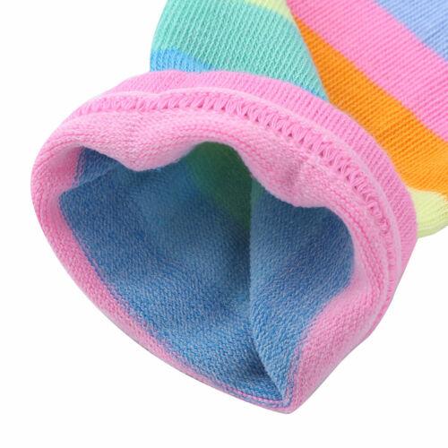 New Rainbow Socks Striped Knee High Socks Arm Warmer Fingerless Gloves//Stockings