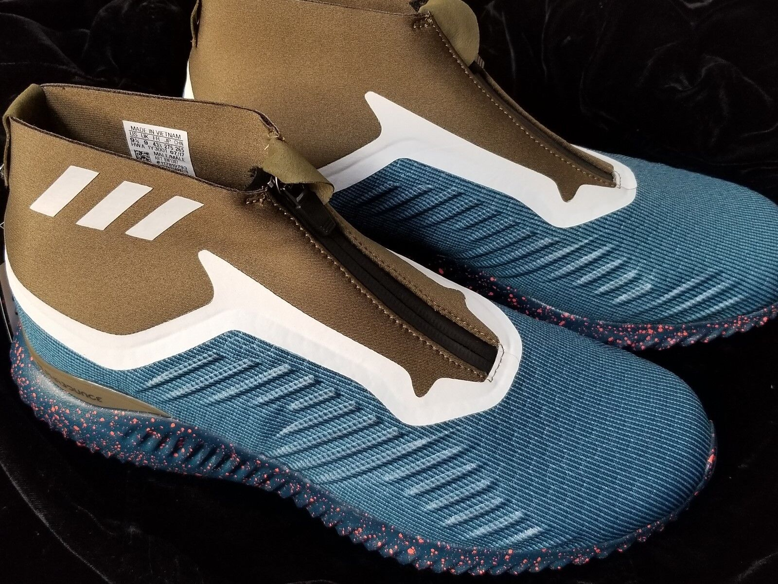MENS ADIDAS ALFABOUNCE 9.5 ZIP M TEAL OLIVE SZ 9.5 ALFABOUNCE 44f61a
