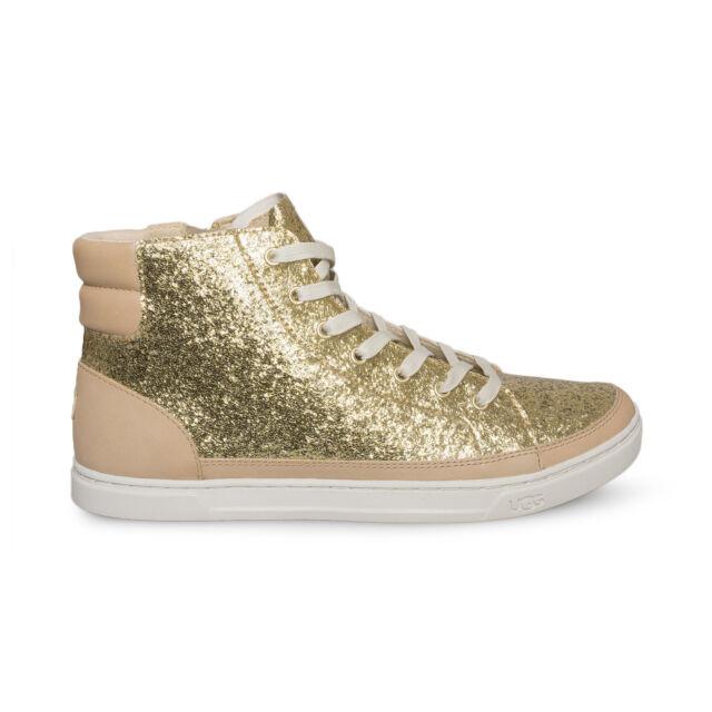UGG Gold Gradie Glitter Sparkle Leather