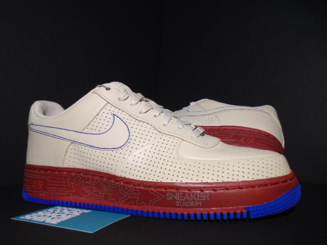 NIKE AIR FORCE 1 SUPREME MCO I/O '07 PHILLY SNEAKER STADIUM WHITE RED BLUE DS 11