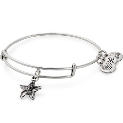 Alex And Ani Arms Of Strength Breast Cancer  Bracelet Bangle Pink Starfish