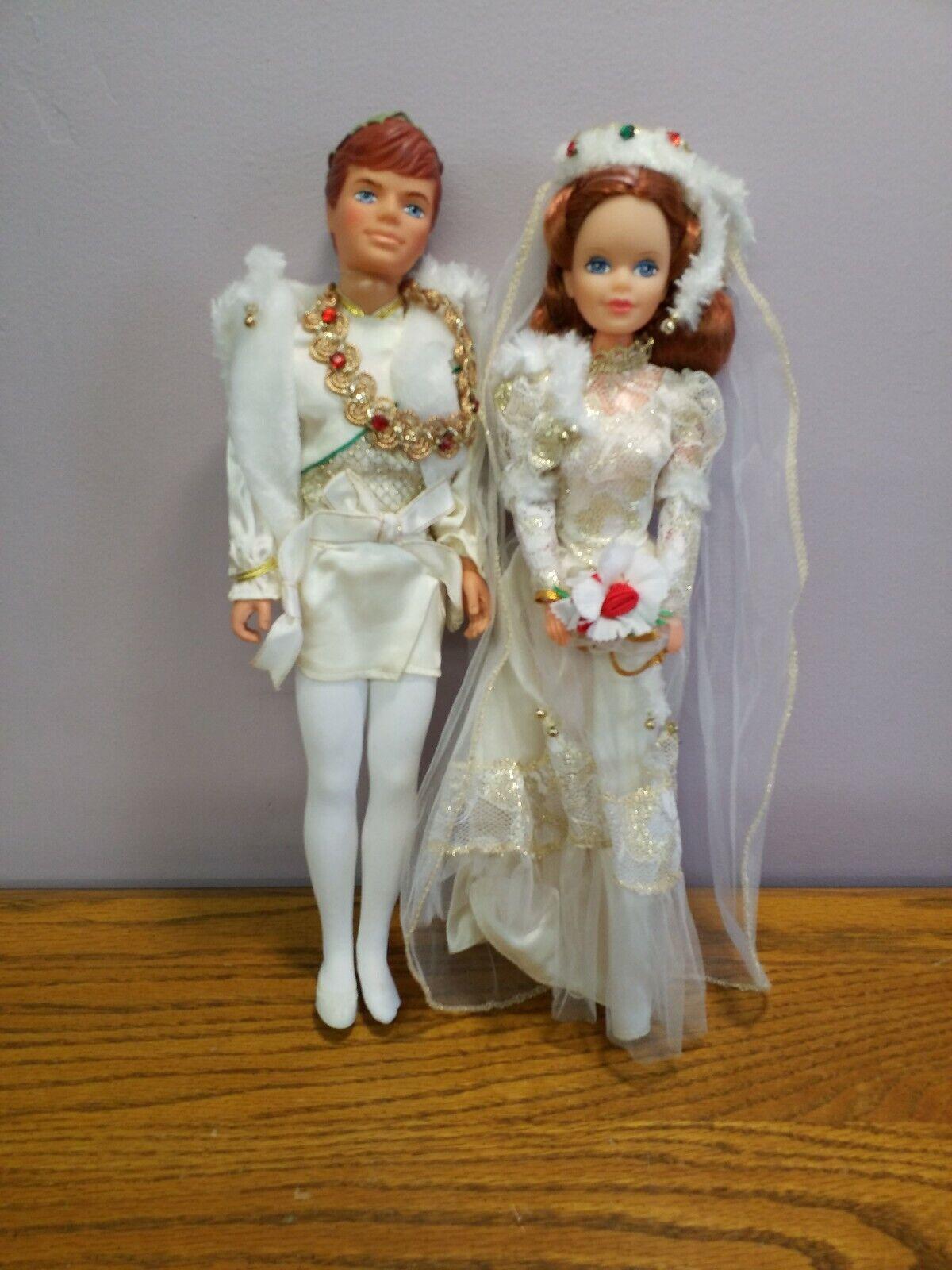 Raro Difícil De Encontrar Vintage Muñeca CREATA 1980s boda príncipe y princesa 12