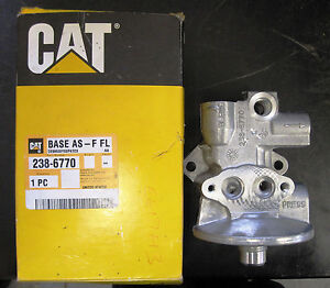 caterpillar c10, c12 fuel filter base assembly part no 238 6770  image is loading caterpillar c10 c12 fuel filter base assembly part