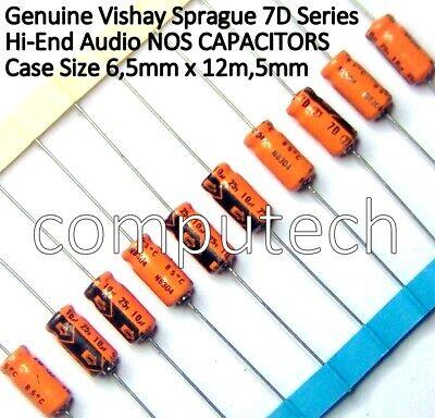 5 pezzi Condensatore Elettrolitico 10uF 25V Assiale NOS