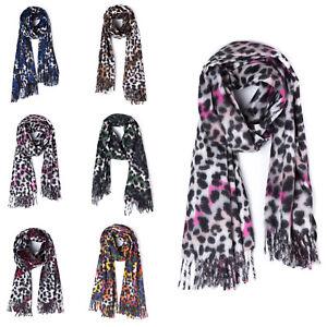 Caricamento dell immagine in corso Sciarpa-scialle-donna -scarf-Pashmina-coprispalle-stola-maculata- 920fc3d4f72