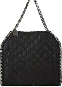 6f5857f0334b Image is loading NEW-AUTHENTIC-Stella-McCartney-Quilted-Black-Falabella- Large-