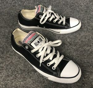 Details about CONVERSE All Star Black 5 Tongues Low Top Chuck Taylor Sneakers Womens 10 Mens 8