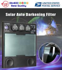 Replaces Helmet Lens Solar Auto Darkening Big View Area 4 Arc Sensor Useful