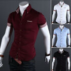 Hot Fashion Mens Luxury Stylish Casual Long Sleeve Dress Shirts Slim Fit Shirts
