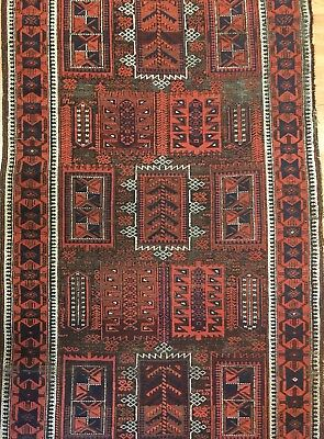 Beautiful Balouch - 1920s Antique Afghan Rug - Tribal Carpet - 3.6 x 6 ft.
