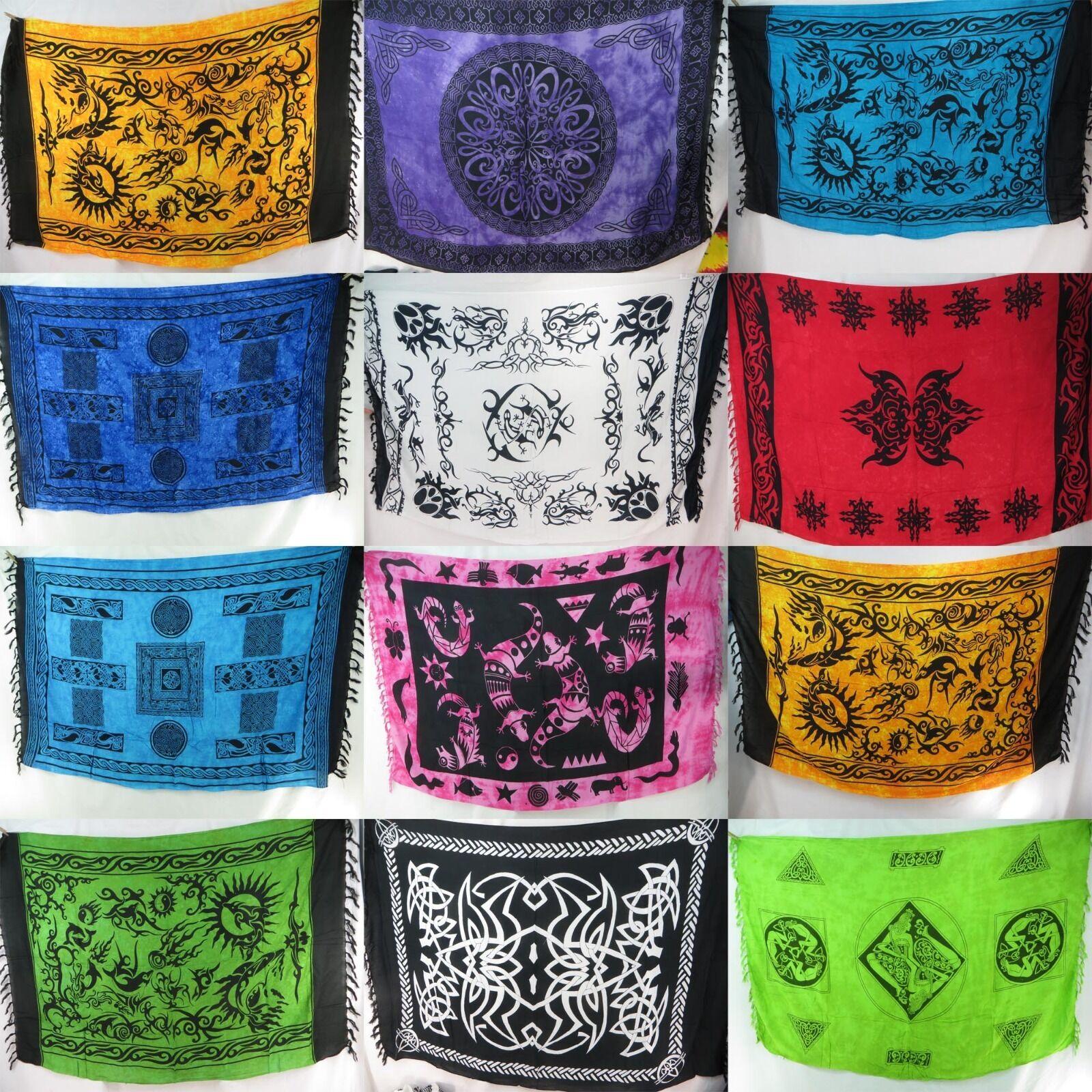 US SELLER-5pcs tribal sarong altar cloth wicca pagan wall hanging bedspread